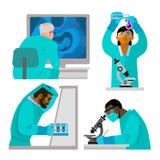 Science concept set royalty free illustration