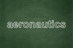 Science concept: Aeronautics on chalkboard background. Science concept: text Aeronautics on Green chalkboard background stock photo