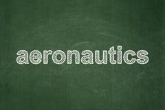 Science concept: Aeronautics on chalkboard background. Science concept: text Aeronautics on Green chalkboard background stock photography