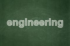Science concept: Engineering on chalkboard background stock illustration