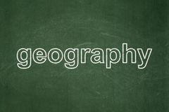 Science concept: Geography on chalkboard background. Science concept: text Geography on Green chalkboard background Stock Images
