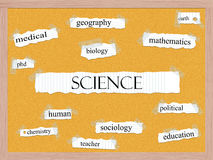 Science Corkboard Word Concept Royalty Free Stock Images