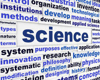 Science creative words design Royalty Free Stock Image