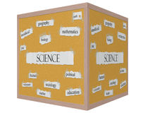 Science 3D Cube Corkboard Word Concept Royalty Free Stock Image