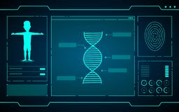 Science data on computer technology abstract futuristic background vector illustration