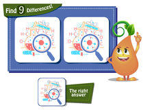 Science day game 9 differences Stock Images