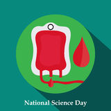Science Day. Vector illustration of a background for National Science Day Stock Photos