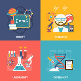 Science Decorative Icon Set Stock Photos