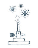 Science design. Science digital design, vector illustration 10 eps graphic Stock Image