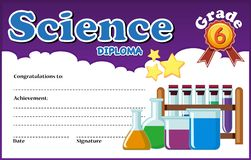 Science diploma certificate template royalty free stock images
