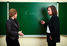 Science discussion Royalty Free Stock Photo