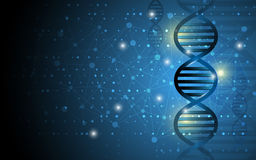 Science dna structure abstract design background Royalty Free Stock Photography