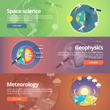 Science of Earth. Exploration of space. Geophysics.  Royalty Free Stock Images