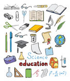 Science and education color icons  collection Stock Image