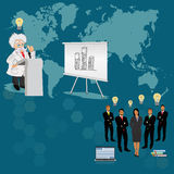 Science and education concept, distance, online, learning professor, international students Stock Photos