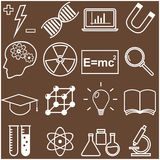 Science and Education Flat Line Icons. Vector Royalty Free Stock Photos