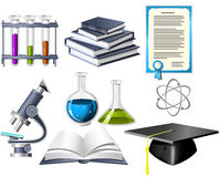 Science and education icons stock photography