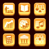 Science and education icons Stock Image