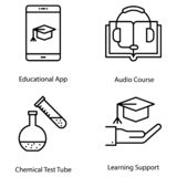 Science and Education Icons stock illustration
