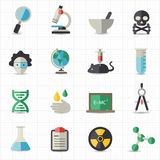 Science and education icons. This image is a vector illustration Royalty Free Stock Photography