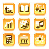 Science and education icons Royalty Free Stock Image