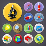 Science and education icons Royalty Free Stock Photo