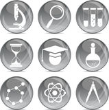 Science and education icons in vector Royalty Free Stock Photos