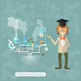 Science and education laboratory students Stock Images