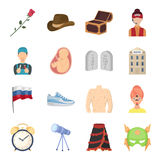 Science, education, medicine and other web icon in cartoon style.Health, recreation, tradition icons in set collection. Stock Images
