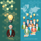 Science and education, online education, students, study. Science and education online education students, study university college professor lectures, teacher Stock Photos