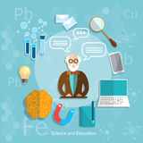 Science and education professor online education theory teacher Royalty Free Stock Photos