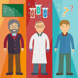 Science and education: professor,scientist, student Stock Photography