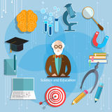 Science and education professor theory teacher classroom Stock Photography