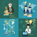Science and education, proffesor,  students, college, university Royalty Free Stock Photography