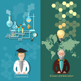 Science and education: scientific experiment, professor Stock Image