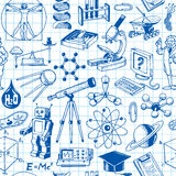 Science And Education Seamless Pattern. Background Stock Images