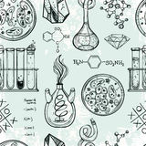 Science and education seamless pattern. Royalty Free Stock Photography