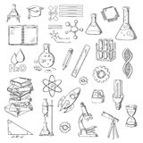 Science and education sketch symbols Stock Photography
