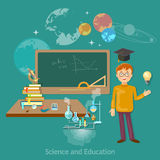 Science and education student astronomy chemistry Stock Image
