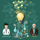 Science and education students, chemistry, physics Stock Photography