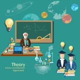 Science and education: students and teachers Royalty Free Stock Images
