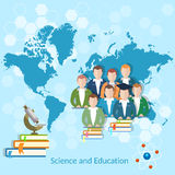 Science and education: students university Stock Image