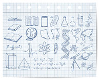 Science and education symbols Royalty Free Stock Photo