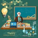Science and education, teacher classroom, professor Royalty Free Stock Photos