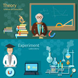Science and education: teachers school board professor Royalty Free Stock Photo