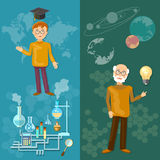 Science and education teachers school board schoolboy professor Stock Images