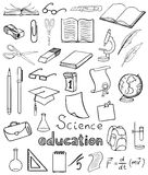 Science and education vector collection Royalty Free Stock Image