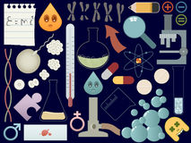 Science elements. A collection of science related elements Royalty Free Stock Images