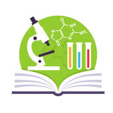 Science Emblem Royalty Free Stock Photography