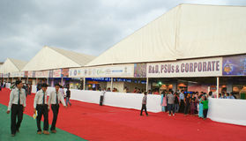 Science Exhibition in 99th Indian Science Congress. People thronging stalls during science exhibition in 99th Indian Science Congress conducted between 3rd to royalty free stock photos